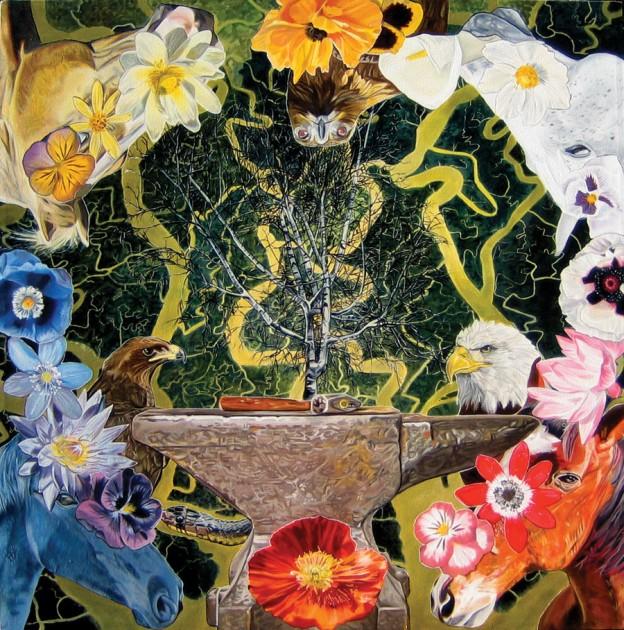 noos (it is not far), 122cm x 122cm oil on canvas, 2006