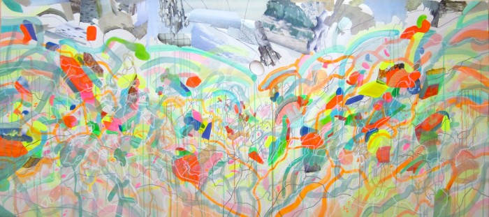 the transcendental waterfall, 120 cm x 90 cm, mixed media on canvas, 2010