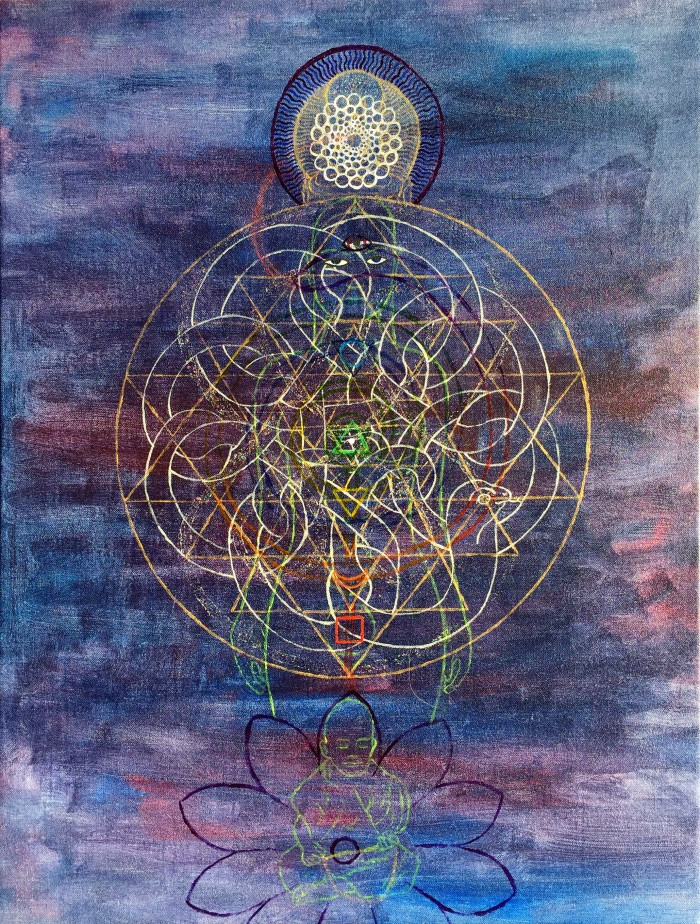 kundalini, 120 x 120cm, acrylic on canvas, 2016