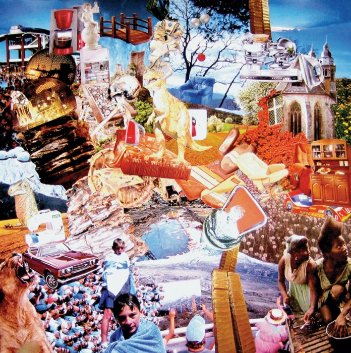 nothing to eat, 63cm x 67cm, paper collage, 2007