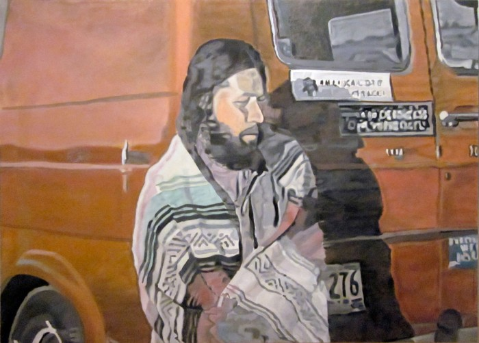 estimated prophet, from series 'rite of passage', 200 x 140cm, oil on canvas, 2011